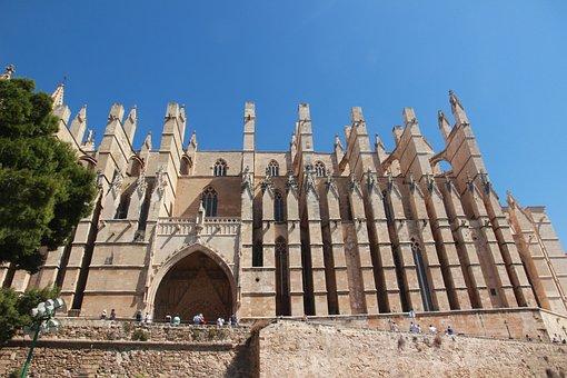 Cathedral, Church, Mallorca, La Palma, Spain, Gothic