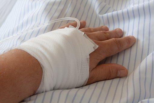 Hospital, Infusion, Hand, Association, Gauze Bandage
