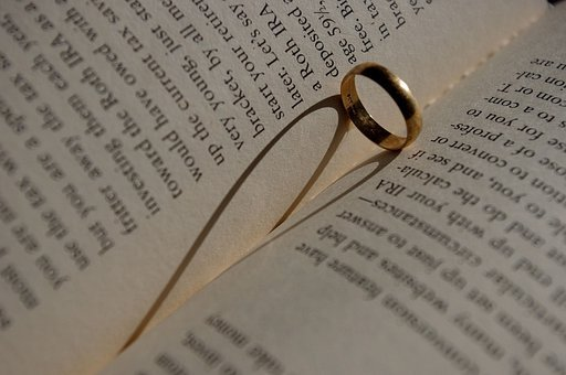 Book, Heart, Shadow, Ring, Love, Read, Bookworm