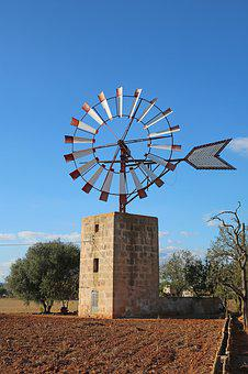 Mallorca, Windmill, Old Mill, Windräder, Traditionally