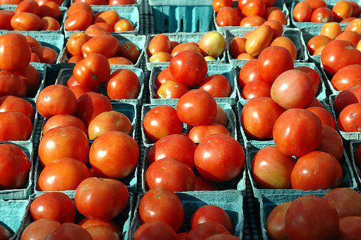 Tomatoes, For Sale, Fruit, Tasty, Red, Food, Market