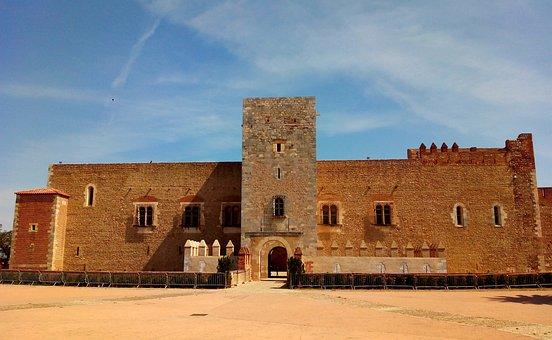 Castle, Perpignan, France, Medieval, Architecture