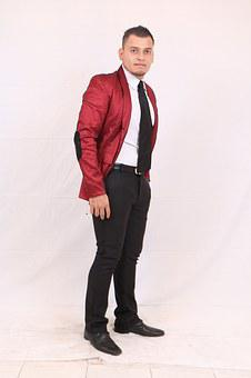 Costume, Jacket, Red, Male, Person, Model