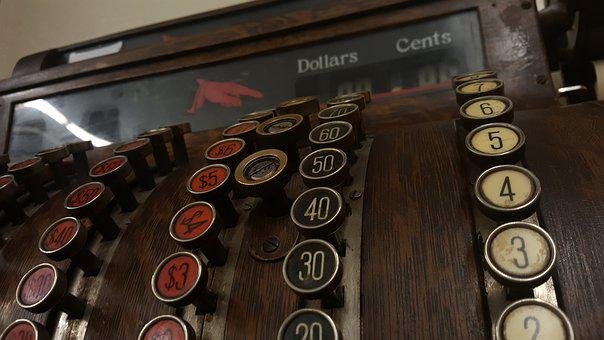 Old-fashioned, Cash, Register, Old, Vintage, Machine