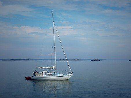 Boat, Sailboat, Sea, Calm, Finnish Bay, Marine Boat