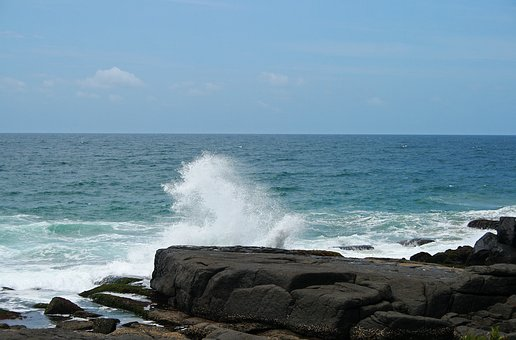 Sea Spray, Sea, Ocean, Water, Marine, Rocks, Shore