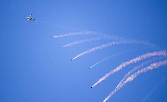 Parachuting, Parachute, Skydiving, Air, Show