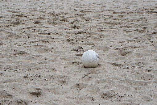 Ball, Beach Volleyball, Volleyball, Sand, Sport, Play