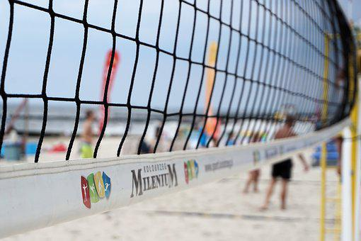 Web, Beach Volleyball, Volleyball, Sand, Sport, Play