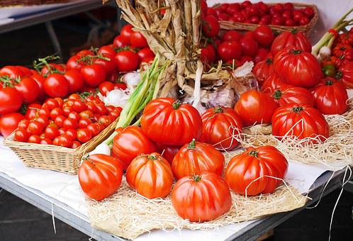 Tomatoes, Farmers Local Market, Stand, Presentation