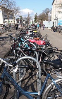Bike, Bicycles, Wheels, Students, Uni