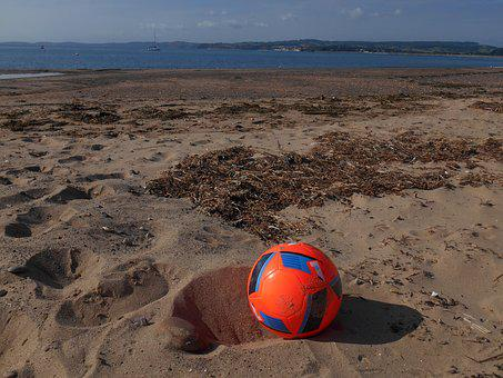 Football, Beach, Sand, Sea, Soccer, Summer, Vacation