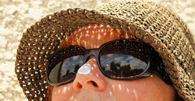 Sunblock, Sunglasses, Skincare, Hat, Summer, Sun
