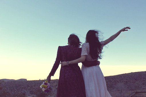 Girlfriends, Sunset, Vintage, Bohemian, Fashion