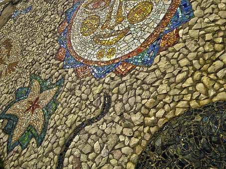 Mosaic, The Façade Of The, Building, Architecture, Wall