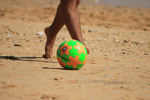 Beach, Ball, Play, Tranquility, Beira Mar, Sand, Game