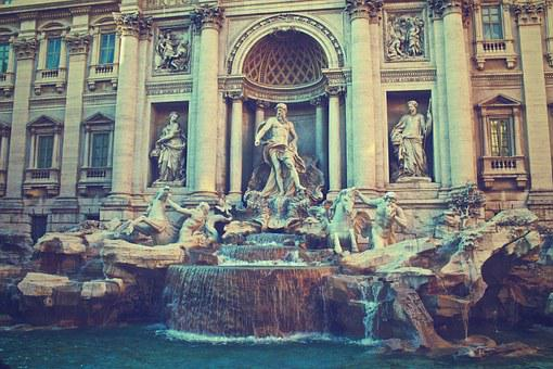 Trevi Fountain, Rome, Italy, Fontana Di Trevi, Fountain