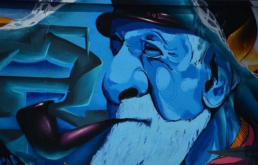 Tag, Fresco, Mural, Painted Walls, Painting, Urban