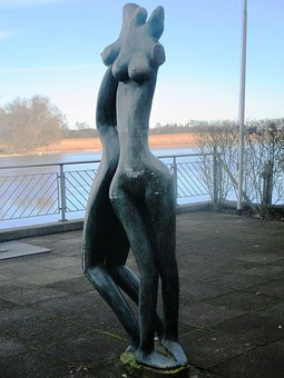 Statue, Women, Fig, Devoured, Cast Iron Figure