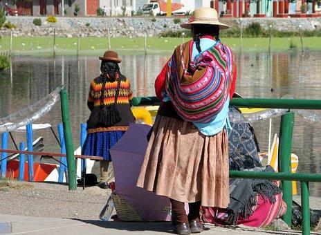 Peru, Lake Titicaca, Puno, Women, Peruvian Inside, Lake