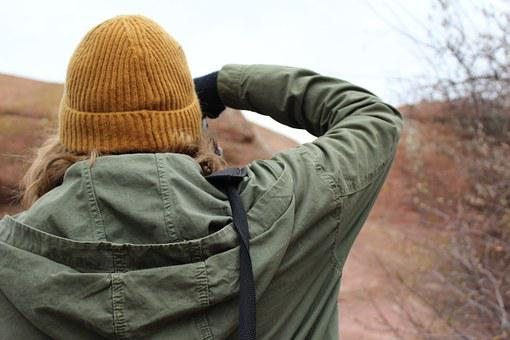 Camera, Taking Pictures, Hat, Yellow, Close Up, Photo