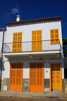 Window, Shutters, Balcony, Home, Building, Yellow