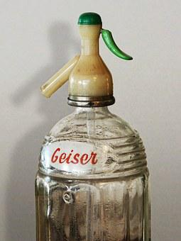 Siphon, Old, Vintage, Geyser, Advertising
