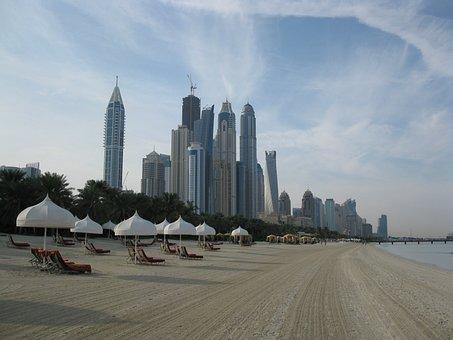 Dubai, Skyscrapers, High Rises, Beach, Hotel, Resort