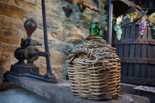 Winepress, Carboy, Glass
