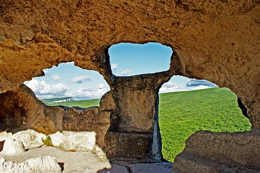 Ukraine, Crimean, Grotteby, Eski-kermen, Cavetown