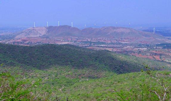 Chitradurga Hills, Landscape, Mountains, Valley