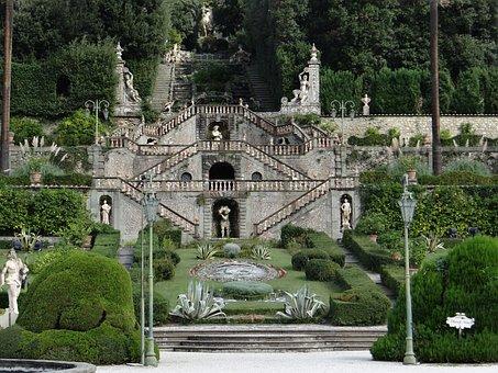 Garden Of Villa Garzoni, Tuscany, Collodi, Italy