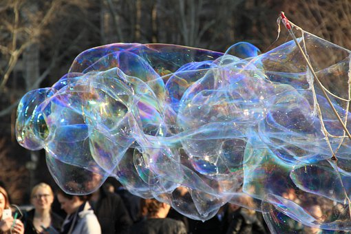 Giant, Colorful, Bubble, Bubbles, Opalescent, Outdoor