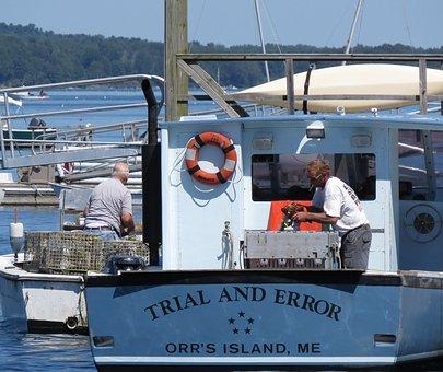 Boat, Fishermen, Lobster, Fisherman, Bailey Island