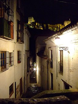 Granada, Alhambra, Albaycín, Andalusia, Spain