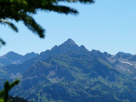 Hochvogel, Mountain, Allgäu, Panorama, View, Mountains