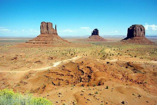 Usa, Monument Valley, National Park, Desert, Immensity