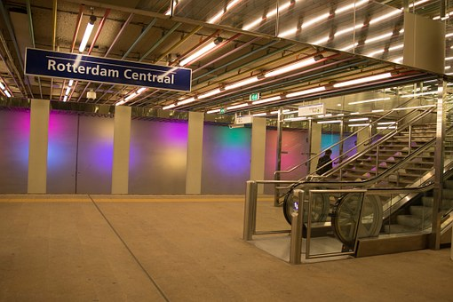 Rotterdam, Lines, Colors, Lights, Stairs