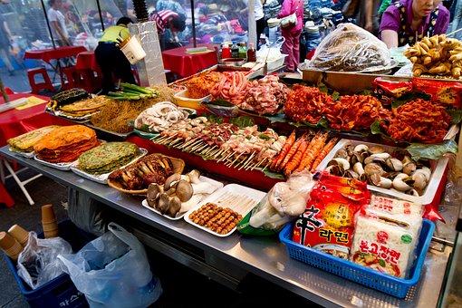 Namdaemun Market, Seoul, Korea, Food, Market, Korean