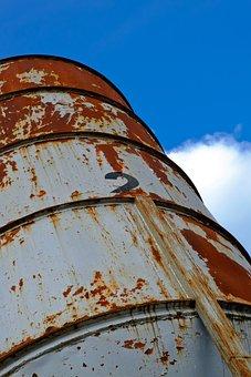 Rust, Barrel, Old, Metal, Steel, Industrial, Industry