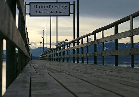 Web, Boardwalk, Perspective, Overview, Wood Planks