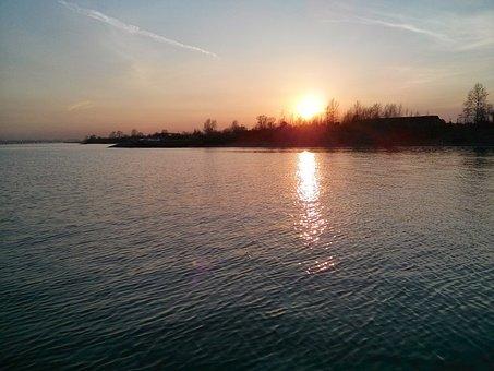 Permian, Russia, Kama, River, Sunset, Nature