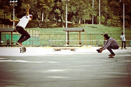 Skateboard, Skate, People, Family, Camera, Recording