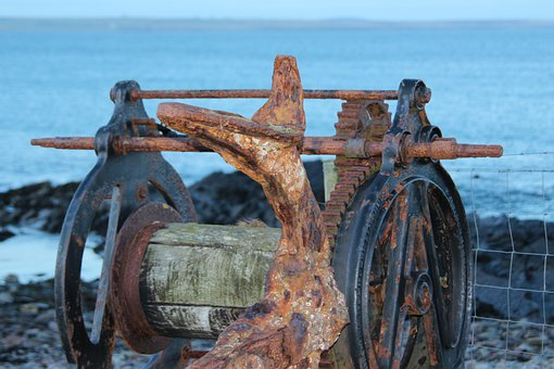 Stainless, Machine, Rusted, Old, Scotland, Sea, Winds