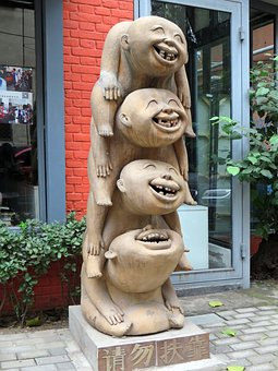 China, Statue, Grotesque, Laugh, Joy, Sculpture