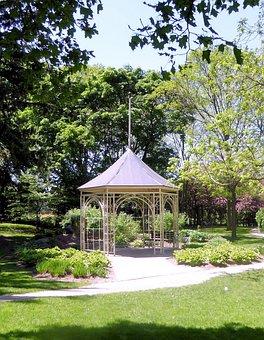 Gazebo, Garden, Nature, Structure, Building, Wood