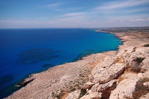 Cyprus, The Mediterranean Sea, Cavo Greco, Blue