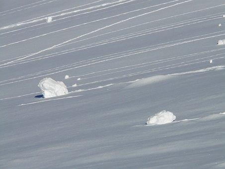 Snow Block, Snow, Chunks Of Snow, Wintry, Trace, Roll