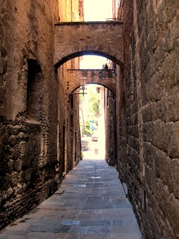 San Gimignano, Alley, Arch, Tuscany, Old Town