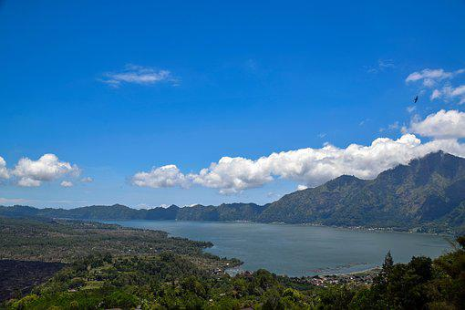 Bali, Indonesia, Travel, Mountains, Volcano, Lake, View